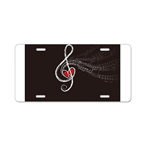 CafePress - Love Of Music - Aluminum License Plate, Front License Plate, Vanity Tag (License Plate Frame Rock Music compare prices)