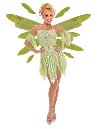 Sexy Green Fairie Theatre Costumes Wood Faerie Nymph Mythological Sprite Wings