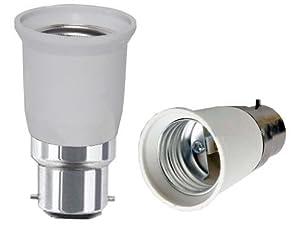 JACKYLED? B22 to E27 Lamp Light Bulb Base Socket Converter Adaptor Lamp holder Edison screw adaptor to E27 Plug Power Socket Adapter 240v by JACKY LED