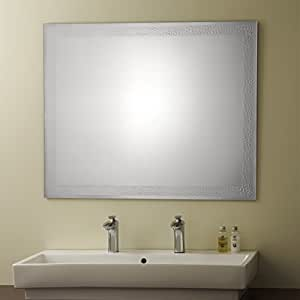 Decoraport Frameless Bathroom Silvered Mirror