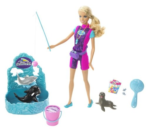 41tC%2BONRT%2BL Cheap  Barbie I Can Be: SeaWorld Trainer Doll Play Set
