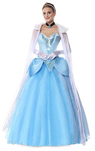 Halloween 2017 Disney Costumes Plus Size & Standard Women's Costume Characters - Women's Costume Characters Women's Plus Size Deluxe Princess Cinderella Dress Costume