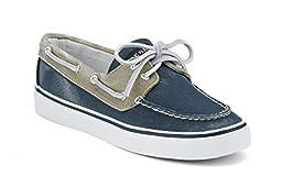 Sperry Top-Sider Women\'s Bahama 2-Eye Boat Shoe,Navy/Chino,5.5 M