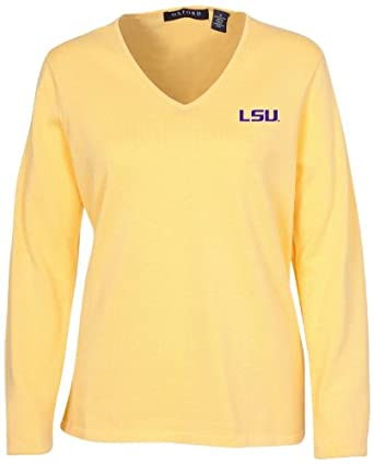 Oxford NCAA Louisiana State Fightin Tigers Ladies Carson V-Neck Sweater by Oxford