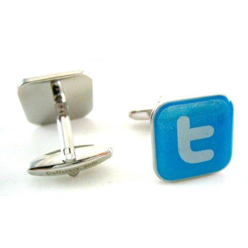 Twitter Social Media Cufflinks