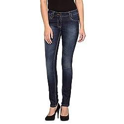 Species Women's Slim Fit Jeans (S-834_Blue_Large)