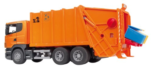 Bruder Scania R-Series Garbage Truck – Orange