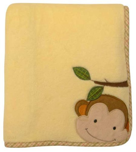 Lambs & Ivy Papagayo Blanket, Yellow back-109019
