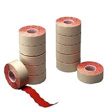 Herlitz 10791390 Étiquettes de prix 2 lignes Rouges (Import Allemagne)
