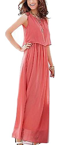Superfs Lady Two Piece Chiffon Long Maxi Dress S M L