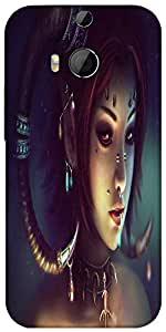 Snoogg Tribal Chic Designer Protective Back Case Cover For HTC M8