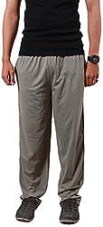 Colors & Blends -Mouse color- Cotton blended Track Pants with Zipper Pockets- Size L
