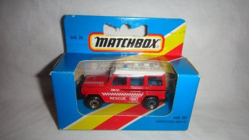 MATCHBOX 1983 MB-30 RED RESCUE UNIT MERCEDES 280 G WINDOW BOX EDITION DIE-CAST - 1