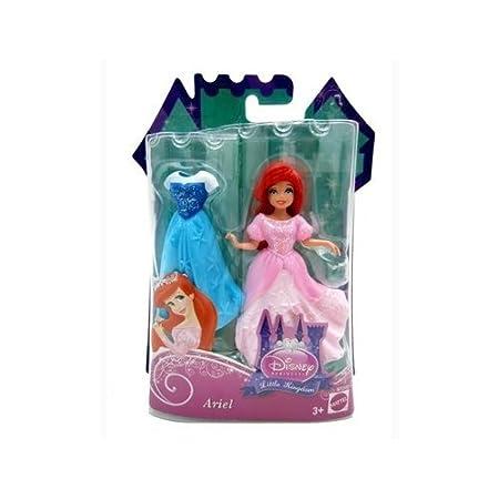 Disney Princess Little Kingdom Ariel 4.5 inch Doll by Mattel Toys (English Manual)