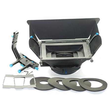 Koolertron - Professionel HD DSLR M2 Matte Box Pare-soleil Portable - avec Double Filtre + Plateaux de Rigs - convient au système 15mm rod - pour caméra caméscope appareil photo reflex DSLR Canon 550D 500D 600D 1100D 60D 50D 40D 5D 5D
