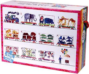 Picture of Galison 1,2,3, zoo, eric carle floor puzzle (B003TXQZH2) (Floor Puzzles)
