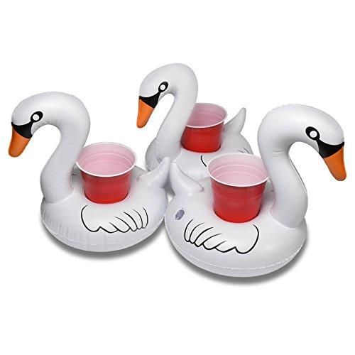 Floating Swan Drink Holders (3 Pack)