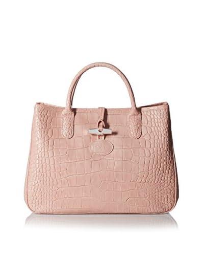 Longchamp Women's Roseau Croco Tote Bag, Poudre