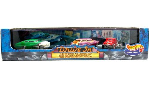 "'49 Merc ""Custom"" / '50 Buick ""Woody"" / '32 Ford ""Hot Rod"" * Limited Edition * Hot Wheels 1999 Drive In Series 4 Cool Classics 1:64 Scale 3-Car Custom Vehicle Box Set"