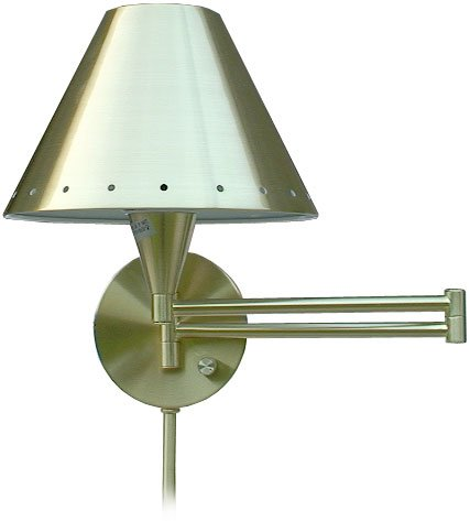 NEW Satin Brass Wall Swing Arm Lamp - ST-3601-SB