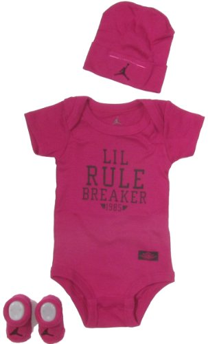 Jordan Baby Clothes Lil Rule Breaker Set for Baby Boys and Girls (One Size 0-6 Months) Pink, 0-6 Months