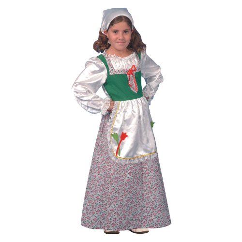 Dress Up America 373-T - Costume da Olandesina Bambini 3-4 Anni, Multicolore