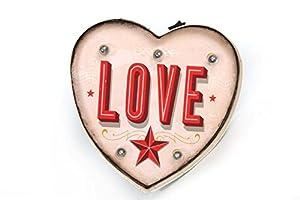 Light Up Retro Vintage Carnival Fairground Style Love Heart Sign.