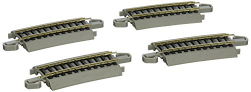 "Bachmann Trains Snap-Fit E-Z Track One-Third Section 18"" Radius Curved Track (4/card)"