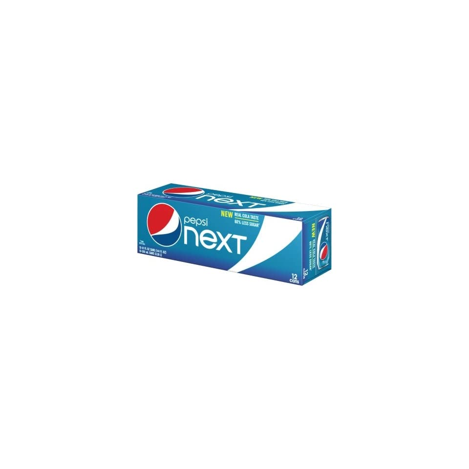 Pepsi Next Soda 12oz Cans (Pack of 24) 60% Less Sugar Than