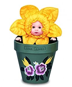 Anne Geddes Flower Pot Babies Daffodil by Anne Geddes