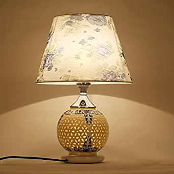 Crf blue and white ceramic lamp bedside lamp retro - Porcelain table lamps for living room ...
