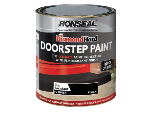 Ronseal DHDSPB250 Diamond Hard Doorstep Paint Black 250ml
