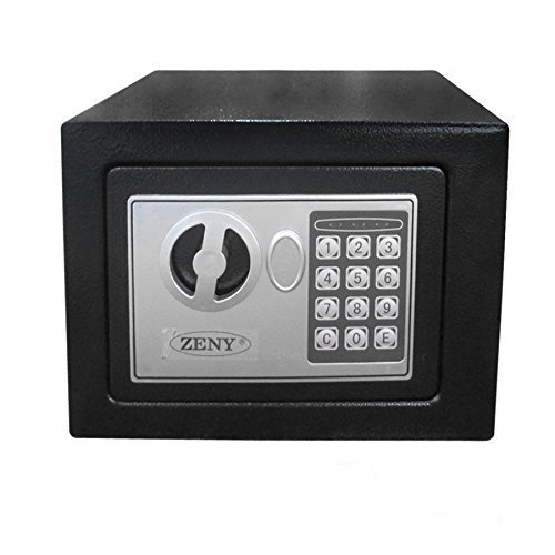Zeny Digital Electronic Security Safe Box Wall Cabinet for Jewelry Gun Cash Valuable (Wall Mounted Gun Safe compare prices)