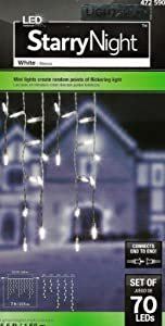 Lightshow 70 Ct. LED White Starry Night Icicle Light String
