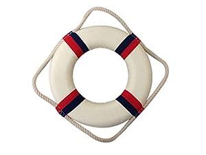Hampton Nautical  Liberty Decorative Life Ring, 10