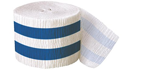 Striped Crepe Streamers, 30 Feet, Royal Blue (Crepe Paper Steamers compare prices)