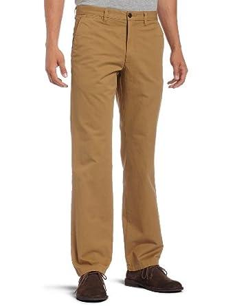 Dockers Mens Soft Khaki D1 Slim Fit Flat Front Pant, Ghurka, 31X34