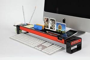 Cyanics iStick Multifunction Desk Organizer with 3 Hub USB Port, Cup Holder, Card Reader, Letter Opener, Paper Holder and more (Color: Black)