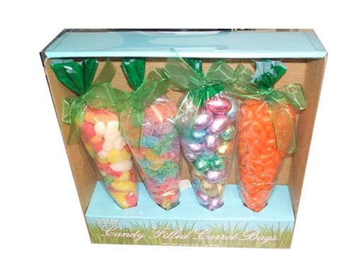 Candy Filled Carrot Bags, 33oz-(four Carrots Box) (Gourmet,Galerie Au Chocolat,Gourmet Food,Candy,Holiday Candy,Easter)