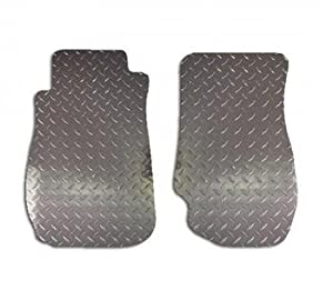 Mercedes-Benz Ml430 99 - 01 Diamond Plate Aluminum Floor Mats 1St Row