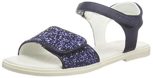 Geox J Sandal Karly Girl Sandali con Cinturino alla Caviglia, Bambine e Ragazze, Blu (C4002), 30