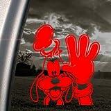 GOOFY DOG Red Decal DISNEY MICKEY Truck Window Red Sticker
