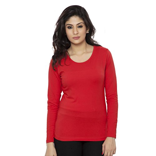 Clifton Womens Cotton T-Shirt (Aaa00014406 _Red _X-Large)