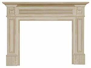 Pearl Mantels 140-50 Classique 50-Inch Fireplace Mantel, Unfinished