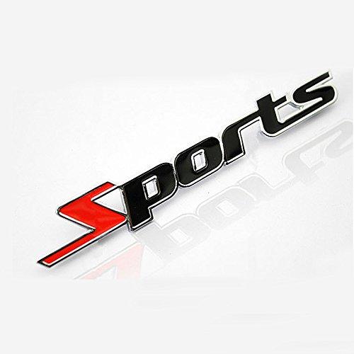 BestAuto® Auto Dekoration Metallkleber Schreiben Sport 3D LKW Auto Abzeichen Emblem Aufkleber