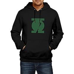 Fanideaz Men's Cotton New Green Lantern Hoodies for Men (Premium Sweatshirt)_Black_S