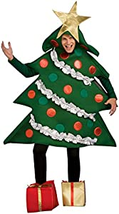 Rubie's Costume Co Men's Christmas Tree Jumper with Present Boot Tops, Multi, Large