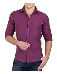 GHPC Men's 100% Cotton Casual Shirt - B00X3OECNQ