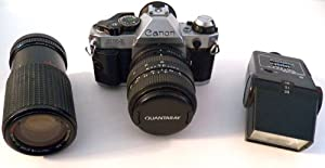 Canon AE-1 Program 35mm Film Camera- Lens - Flash