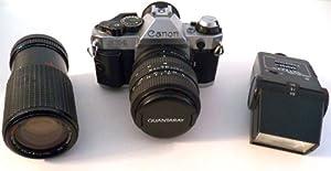 Canon AE-1 Program 35mm Film Camera- Lens - Flash